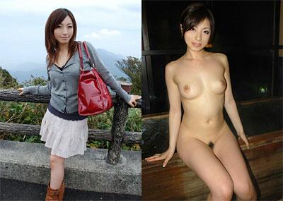 【比較】着衣と全裸ヌード写真を並べた画像ってエ□いよな