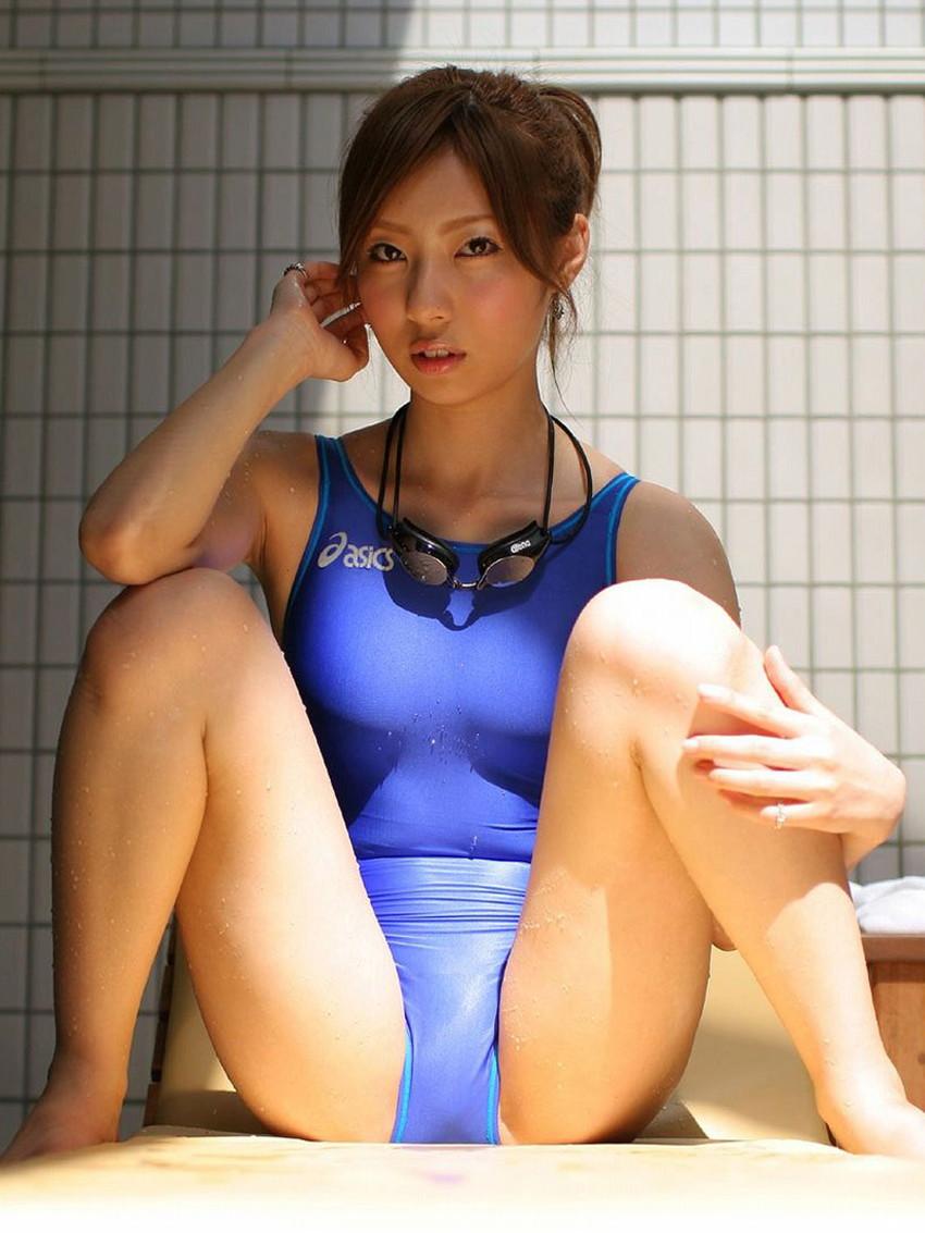 【競泳水着エロ画像】おまいら!油断するなよ!競泳水着ってエロいんだぜ! 15