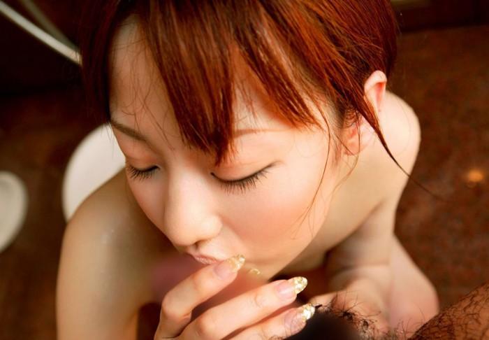 【フェラチオエロ画像】女の子からの奉仕プレイといえばやっぱりフェラだろ! 13