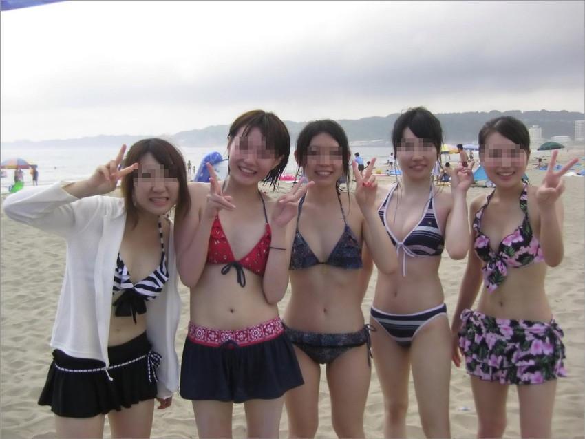 【素人水着エロ画像】素人娘たちのプライベート水着ショット満載! 10