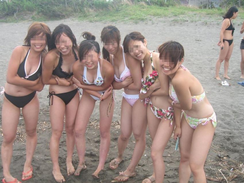 【素人水着エロ画像】素人娘たちのプライベート水着ショット満載! 19
