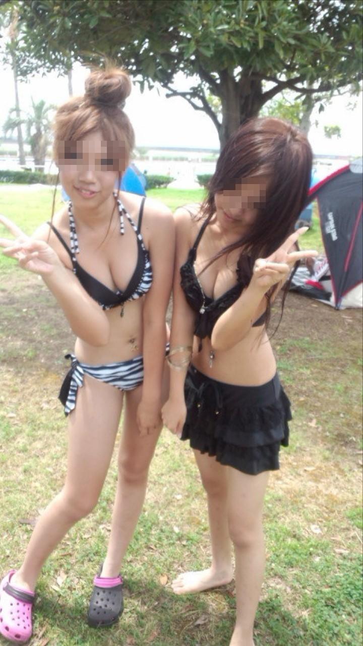 【素人水着エロ画像】素人娘たちのプライベート水着ショット満載! 29