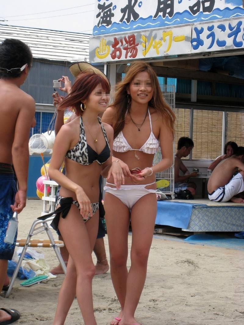 【素人水着エロ画像】素人娘たちのプライベート水着ショット満載! 34
