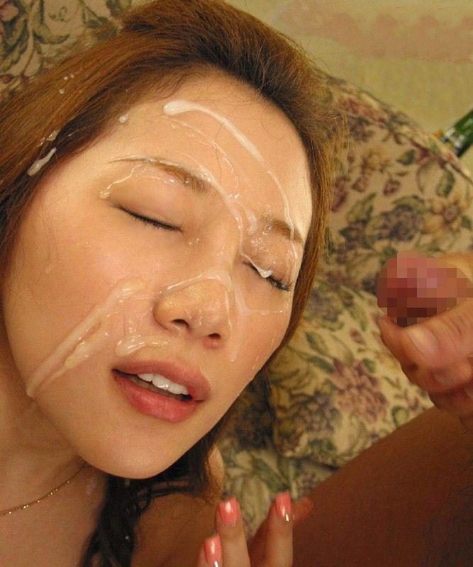 【顔射エロ画像】女の子の顔にザーメンがドロリ!征服欲を満たす顔射! 09