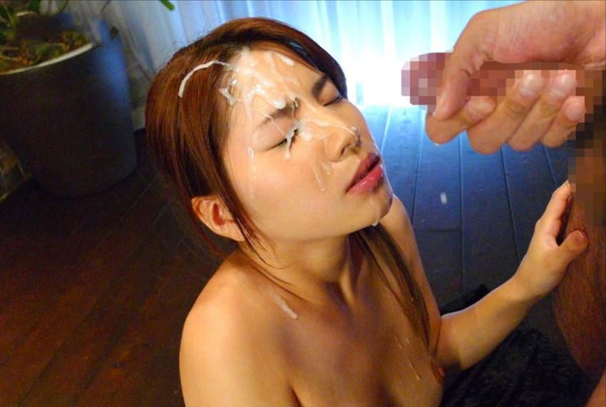 【顔射エロ画像】女の子の顔にザーメンがドロリ!征服欲を満たす顔射! 29