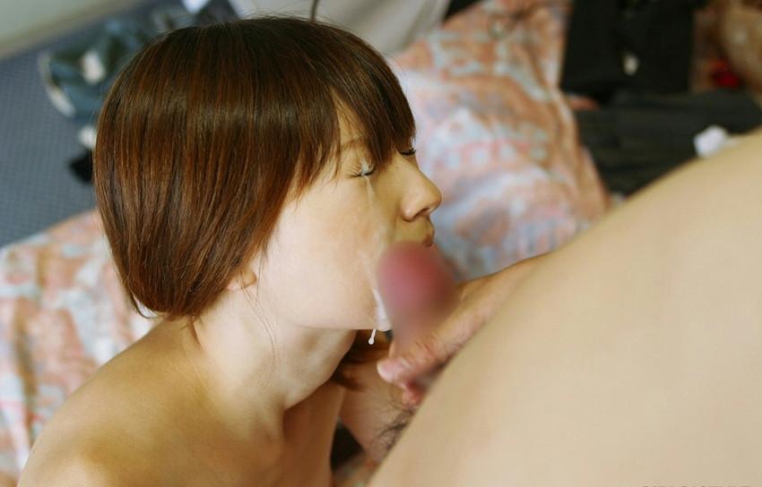【顔射エロ画像】女の子の顔にザーメンがドロリ!征服欲を満たす顔射! 41