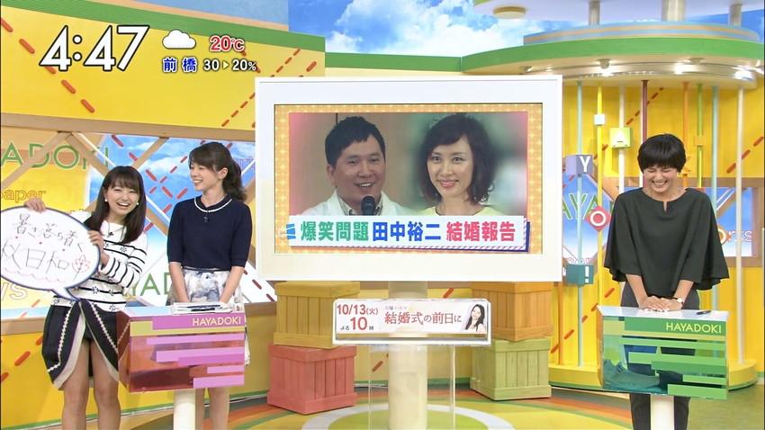 【女子アナエロ画像】番組中に起こった女子アナのパンチラ、胸チラ画像集!うきうきウォッチング感がハンパないです! 09