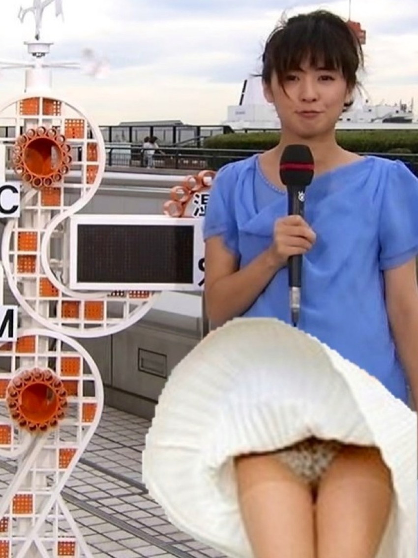【女子アナエロ画像】番組中に起こった女子アナのパンチラ、胸チラ画像集!うきうきウォッチング感がハンパないです! 11