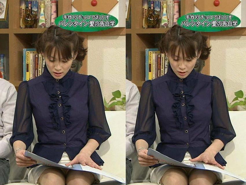 【女子アナエロ画像】番組中に起こった女子アナのパンチラ、胸チラ画像集!うきうきウォッチング感がハンパないです! 32