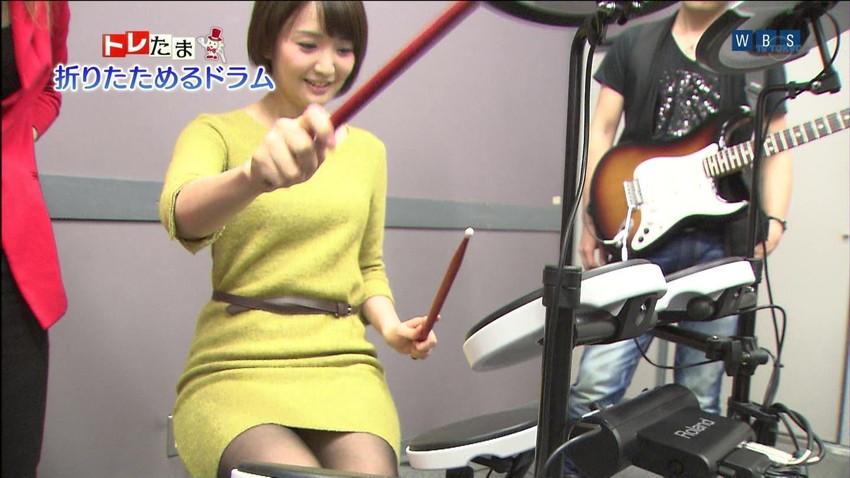 【女子アナエロ画像】番組中に起こった女子アナのパンチラ、胸チラ画像集!うきうきウォッチング感がハンパないです! 39