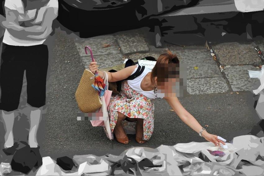 【街撮りパンチラエロ画像】街中で見かけた偶然のエロスに下半身沸騰間違いなし! 34