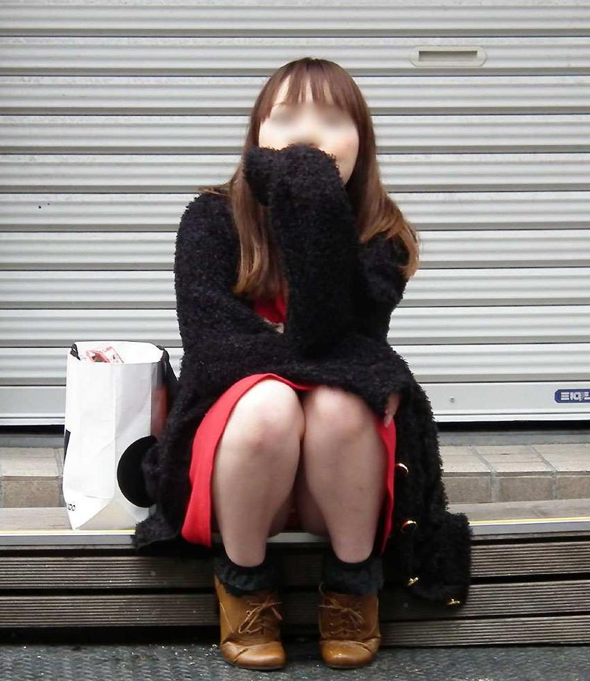 【街撮りパンチラエロ画像】街中で見かけた偶然のエロスに下半身沸騰間違いなし! 42
