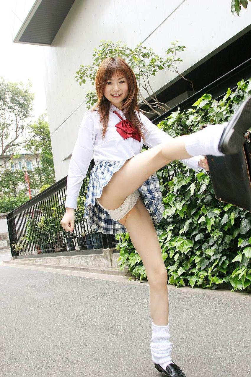 【JKコスプレエロ画像】JKの制服コスプレをした女の子たちに誘惑されてしまいたい! 45