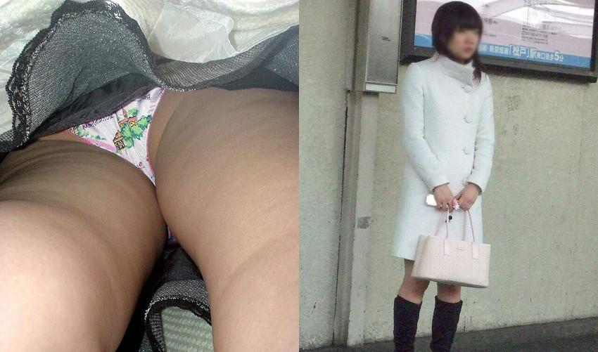 【パンチラ逆さ撮りエロ画像】女の子の直下からスカートの中身を盗撮したったww 30