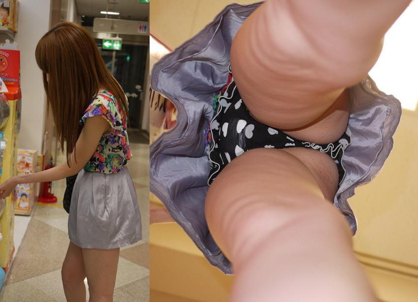 【パンチラ逆さ撮りエロ画像】女の子の直下からスカートの中身を盗撮したったww 31