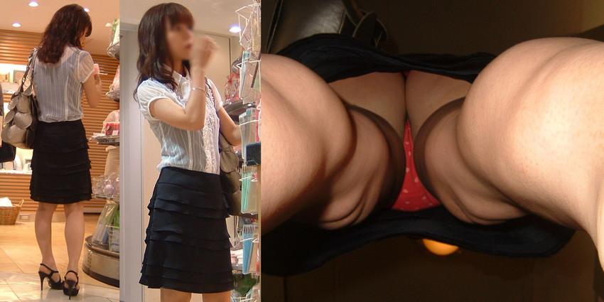 【パンチラ逆さ撮りエロ画像】女の子の直下からスカートの中身を盗撮したったww 49